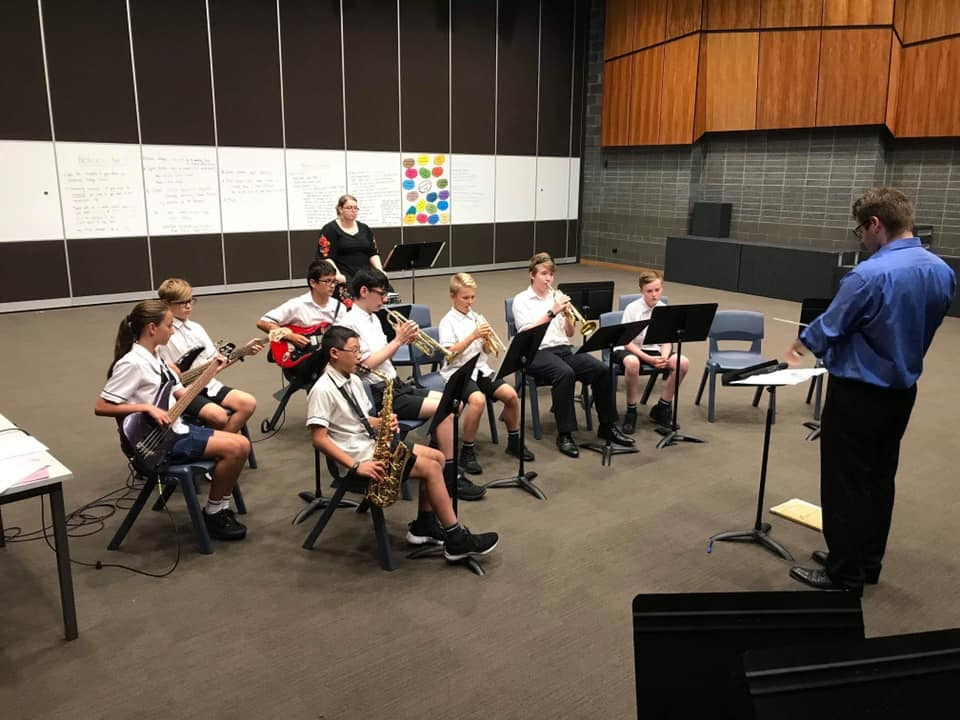 Butler College IMSS Student Band Rehearsal