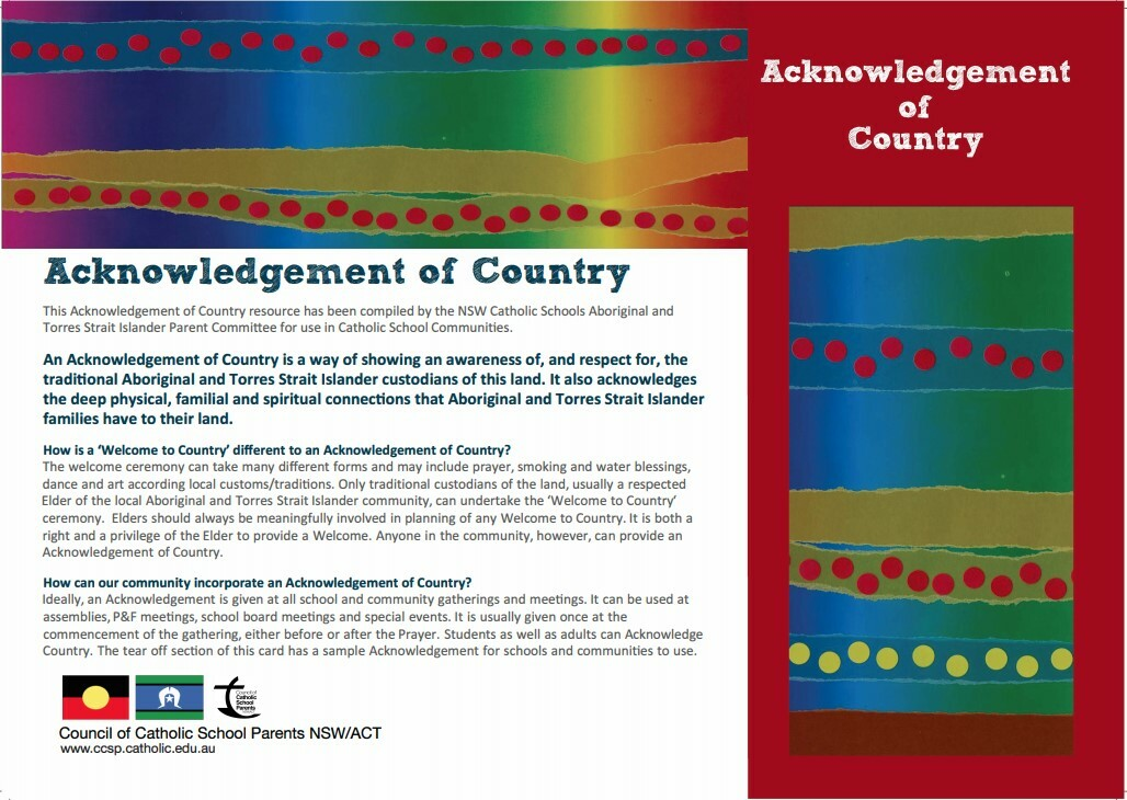 Acknowledgement of Country 1