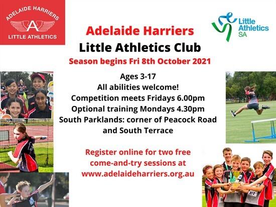 2021-22 Adelaide Harriers Little Athletics Club