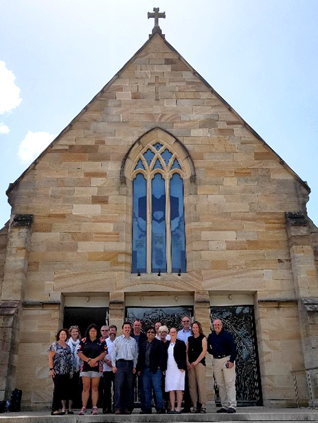 CSPA outside St Patrick's Cathedral Parramatta Feb 2019