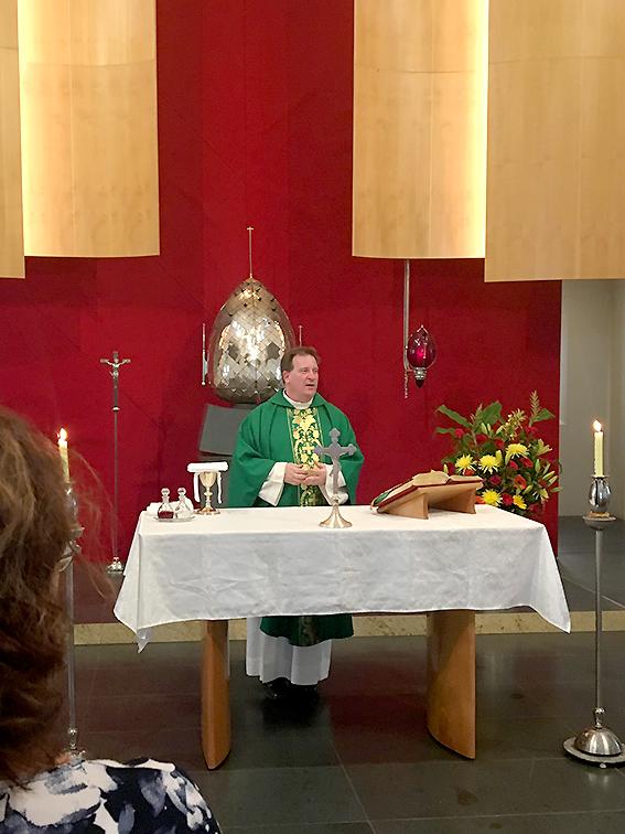 Fr Michael Twigg OMI celebrates mass for CSPA in Parramatta Feb 2019