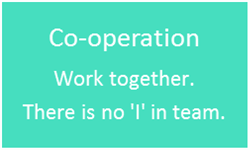 School Values - CO-OPERATION