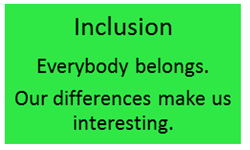 School Values - INCLUSION