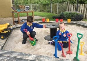 children in sandpit