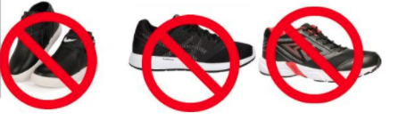 Incorrect school shoes