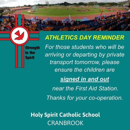 athletics carnival sign in out reminder