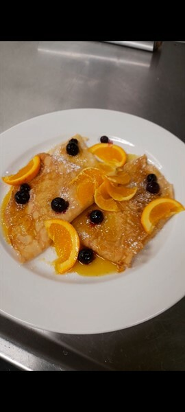 crepes blueberry
