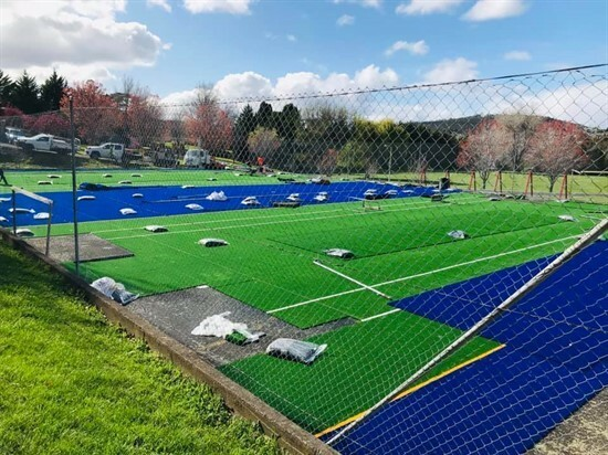 Progrees of tennis courts 2