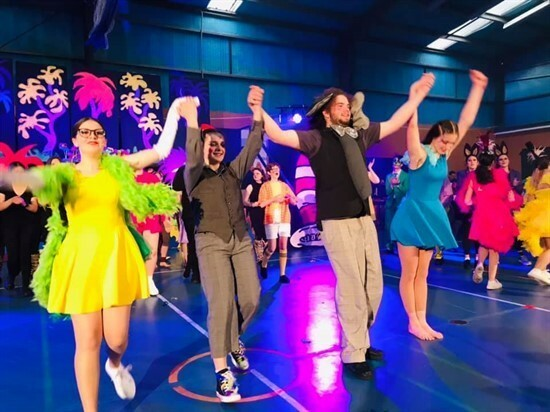 Seussical production - Taking a bow