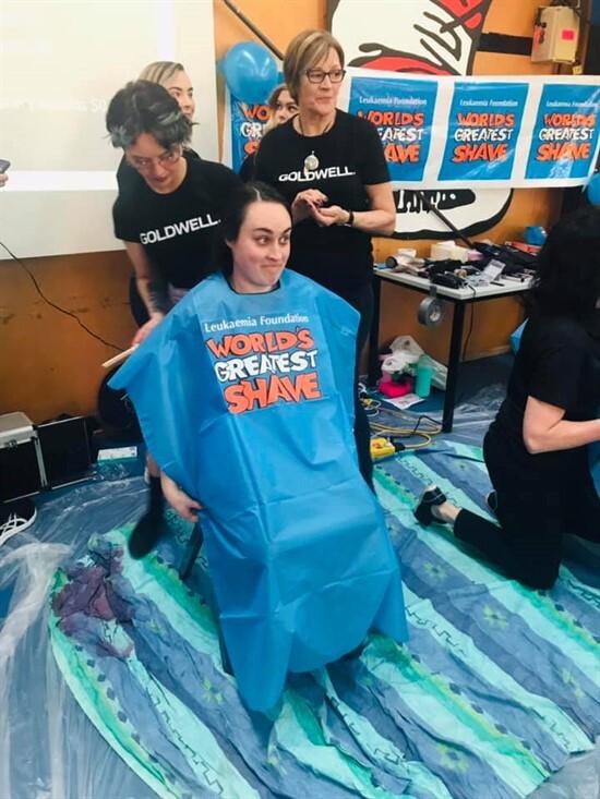 World's greatest shave - Sam