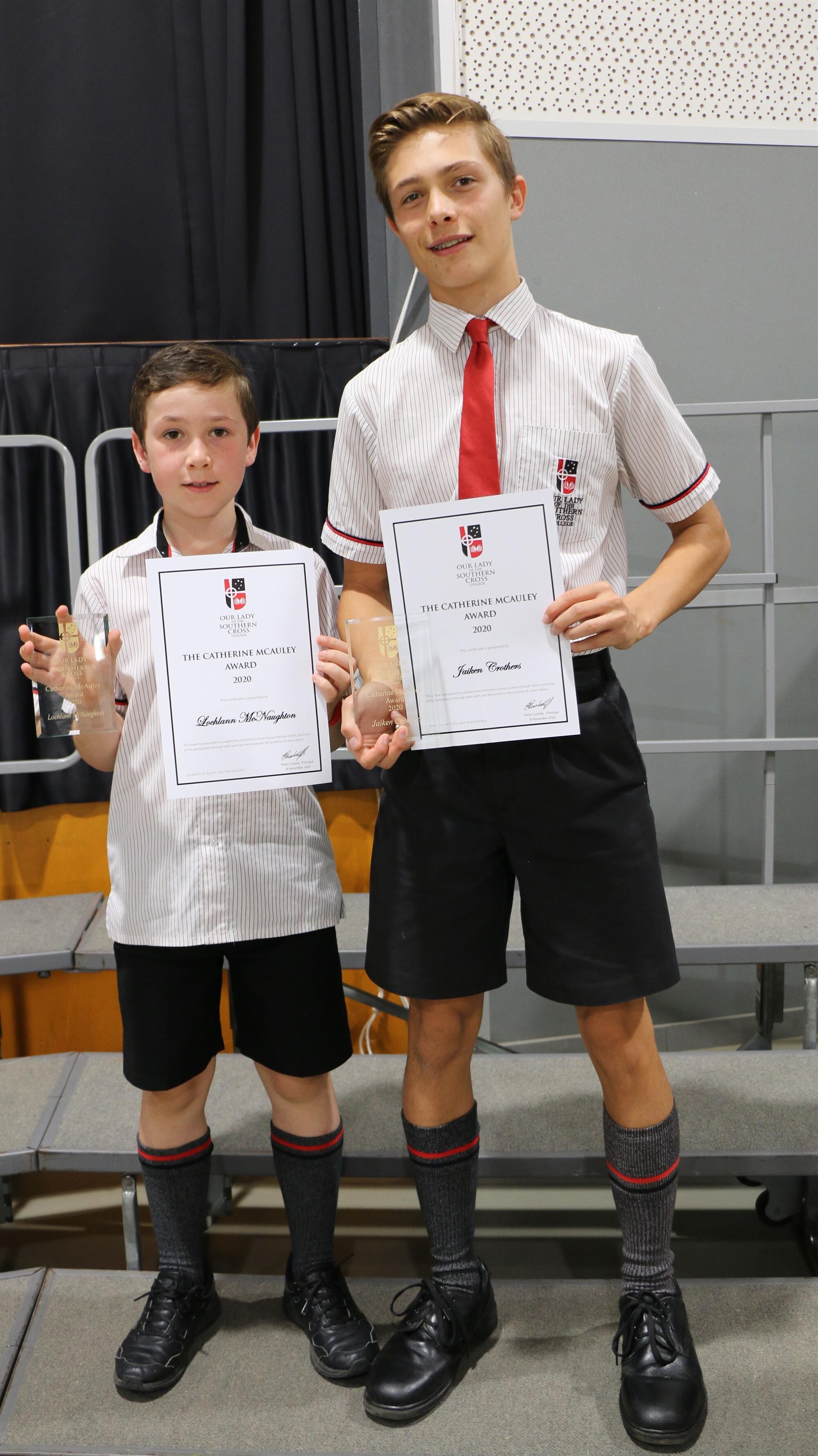 Icon McAuley Award Winners