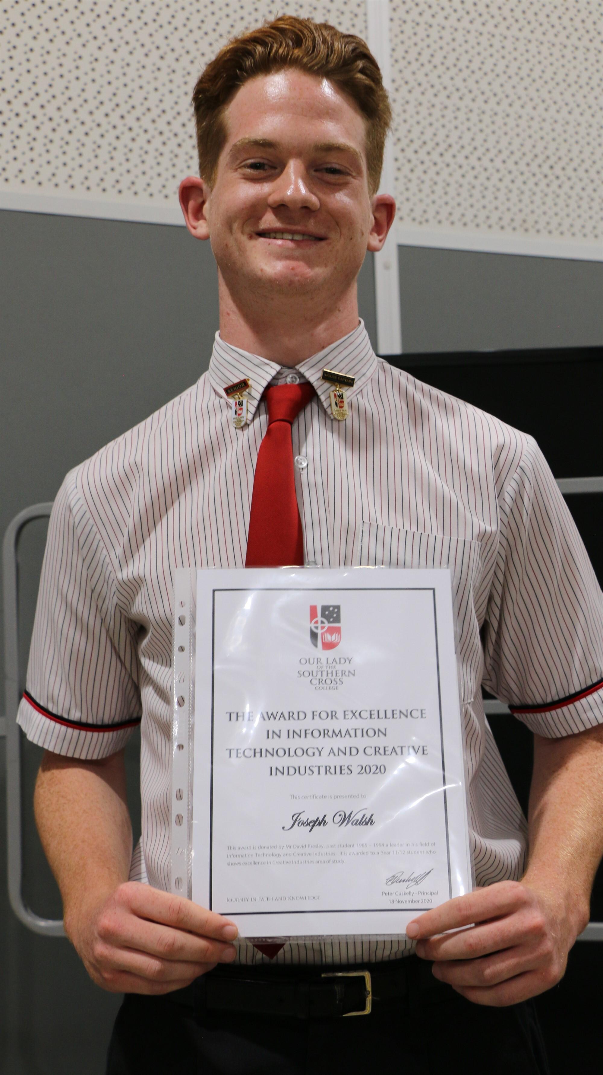 Individual IT and Industry Award Joe Walsh