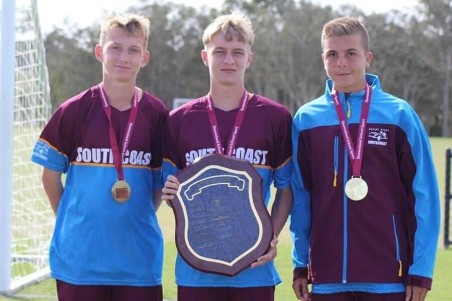 1U16 Soccer South Coast players