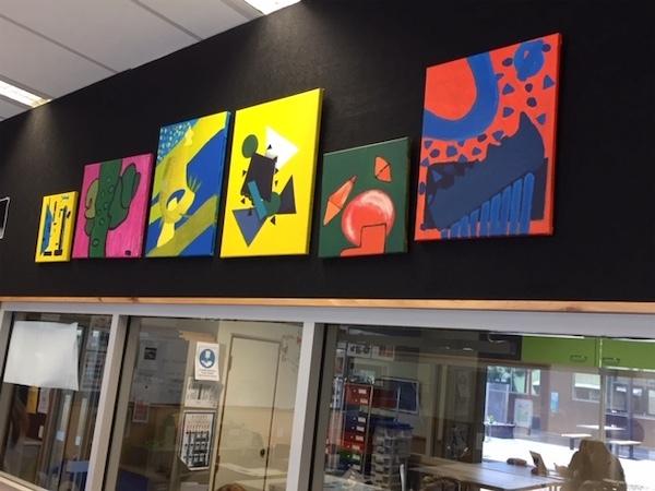 Art room painting display