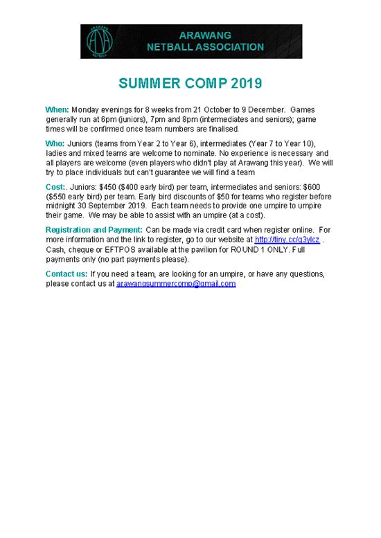 Arawang Summer Comp Flyer 2019 (002)