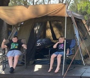 Chase and Koby Tent