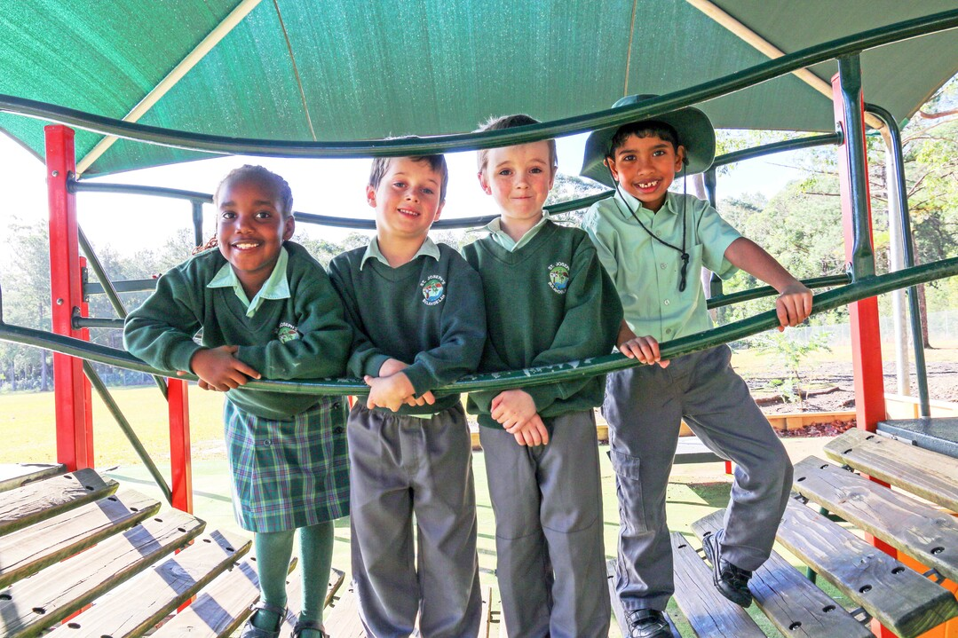 kids on the playground