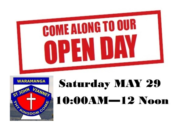 Open Day Saturday 29 May