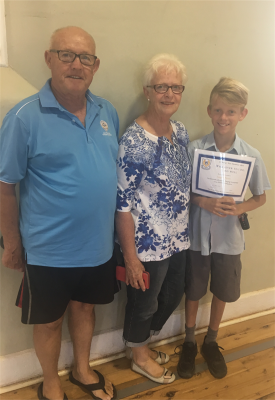 Award Winners - Logan and grandparents