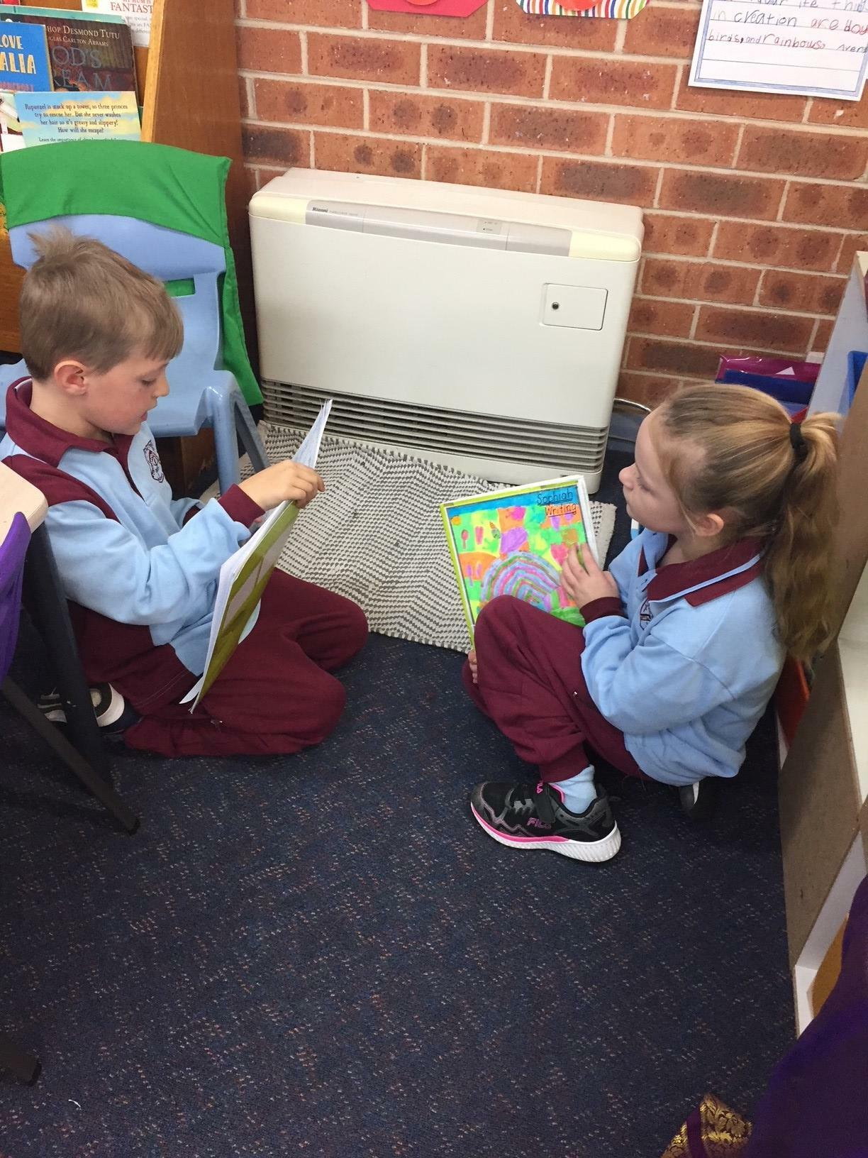 Sharing our writing with a friend