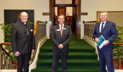 Archbishop Julian, Gerard Gaskin, Hon Jeremy Rockliff MP