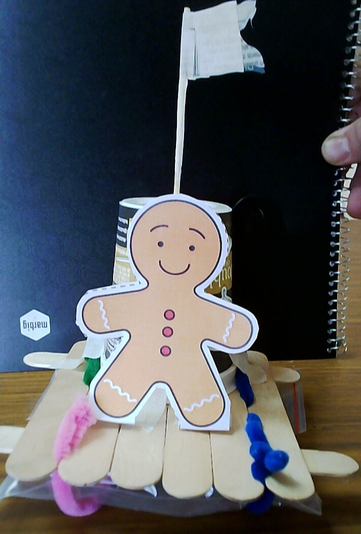 Eisa Raft with paper gingerbread